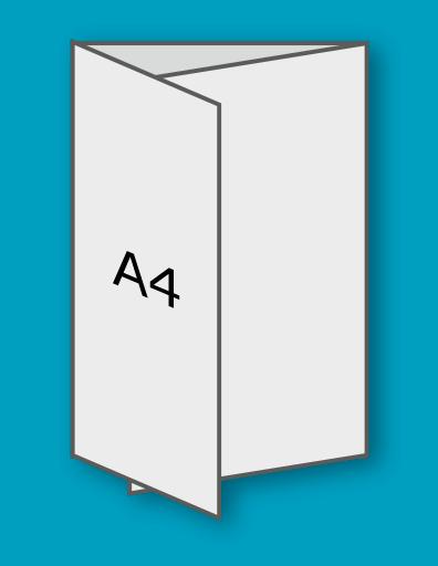 3 x A4 pliat în C la A4