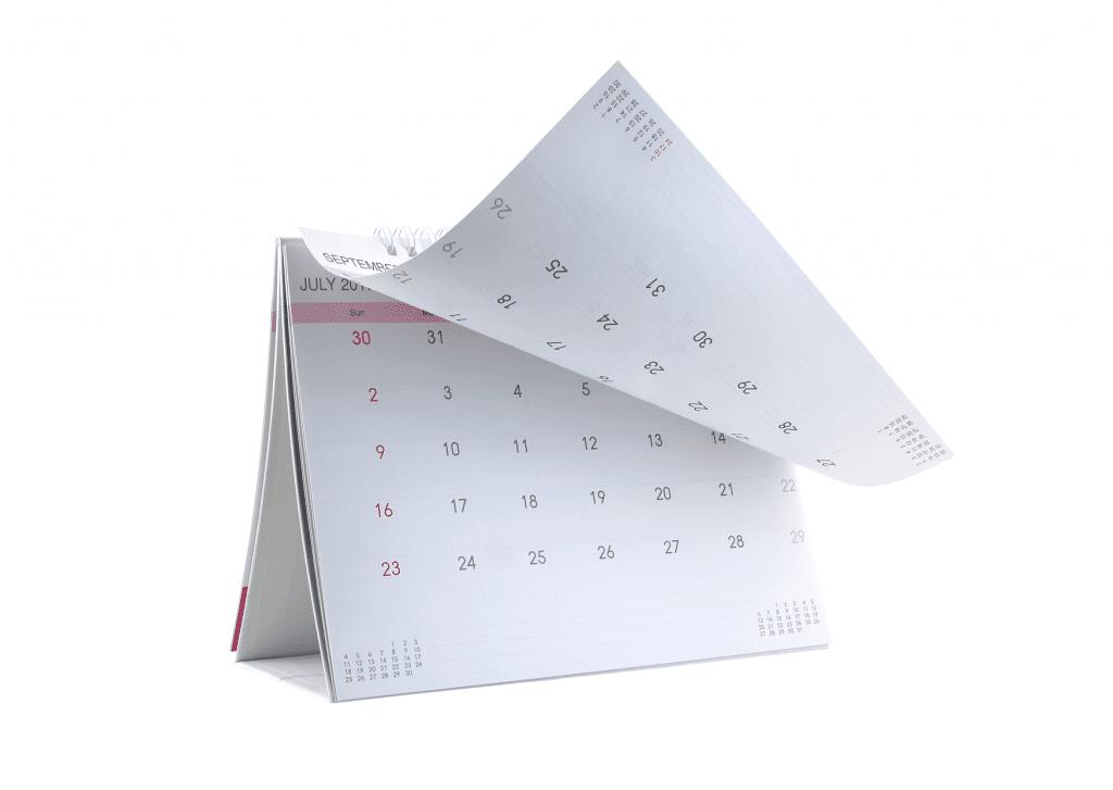 Calendare pentru birou