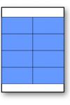 Autocolant dreptunghiular pretăiat în coala A4