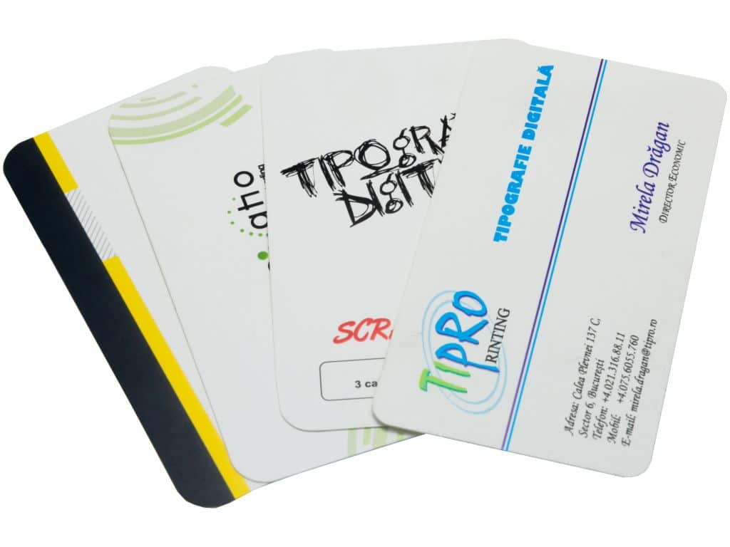 Cărți de vizită din plastic flexibil - Premium never tear