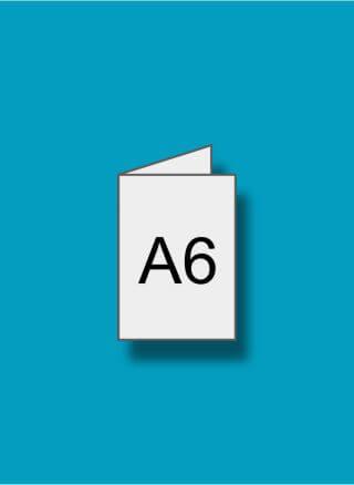 A6 (105 x 148 mm) pliat din A5 (148 x 210 mm)